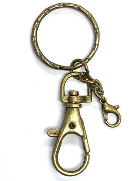 Keyring/Bag Clip - Bronze