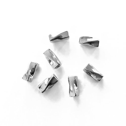 Twist Beads, Silver Tone Pack of 25