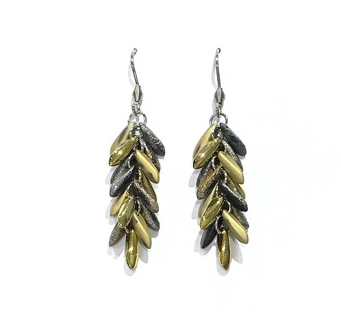 handmade gold beaded earrings