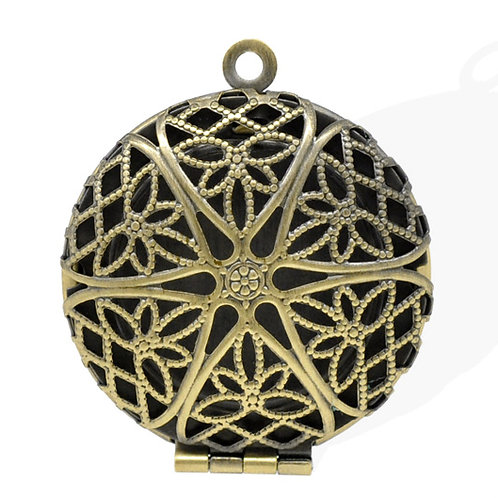 Filigree Locket - Bronze