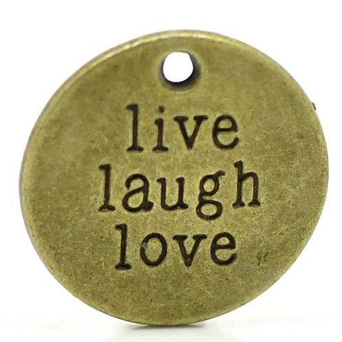 Live Laugh Love Token - Bronze