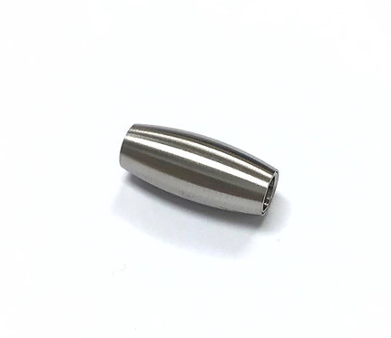 Stainless Steel Barrel Clasp - Fit 4mm Cord