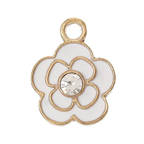 White Flower - Light Gold