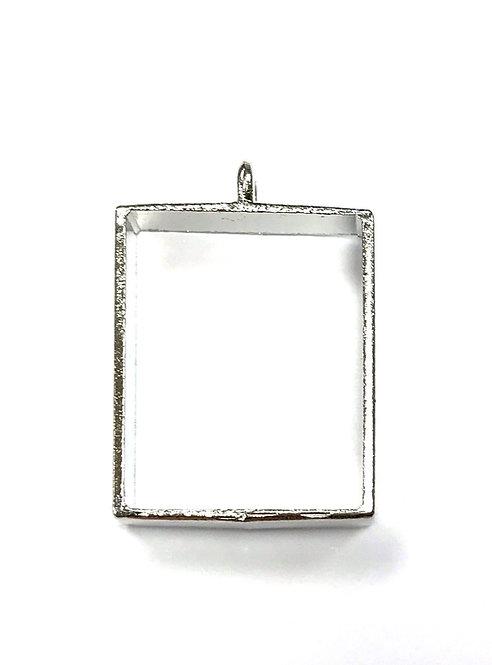 Rectangle Bezel Frame Setting Inner: 22x17mm - Silver Tone