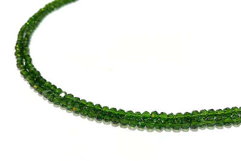 crystal glass green round beads 3.5mm