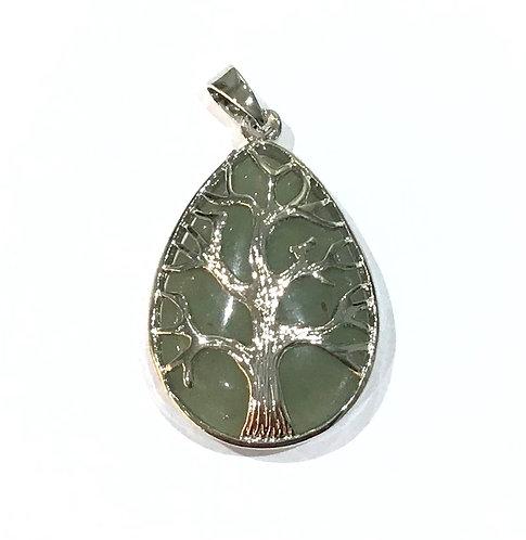 gemstone tree pendant