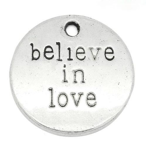 Believe in Love Token - Silver