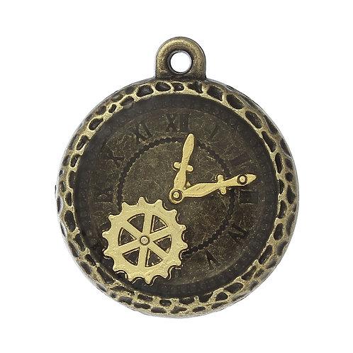 Cog Clock - Bronze