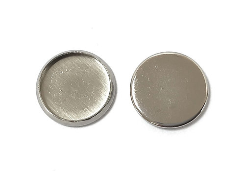 Stainless Steel Cabochon Setting - Fits 12mm
