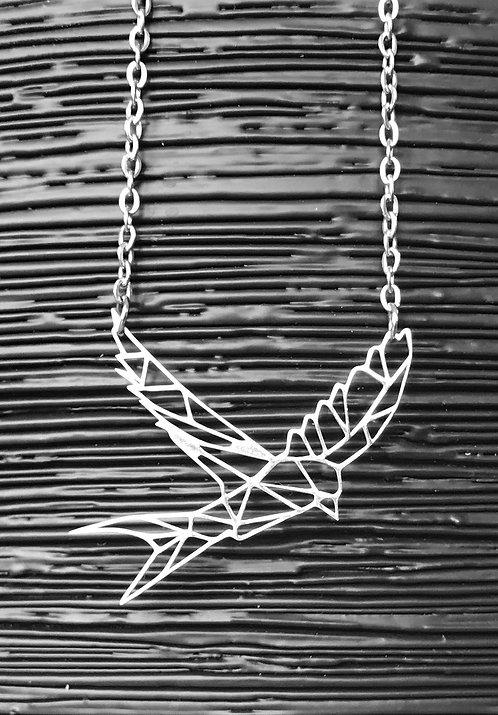 Geometric Swallow Necklace