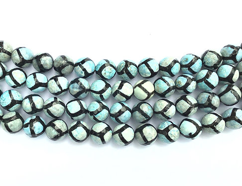 12mm Agate Beads - Blue