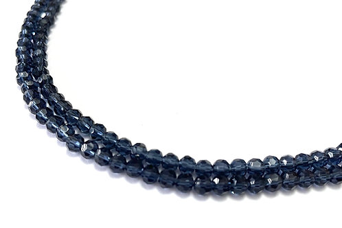 crystal glass midnight blue round beads 4mm