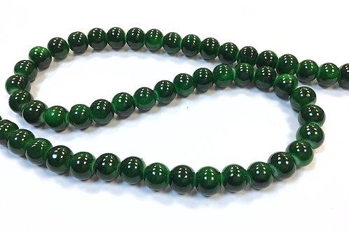Glass Beads, Green - 8mm