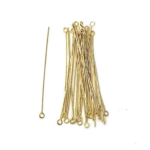 light gold plated eye pins