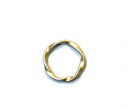 Twist Ring Connector/Link, Matte Gold