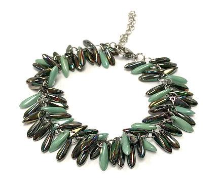 handmade green bracelet