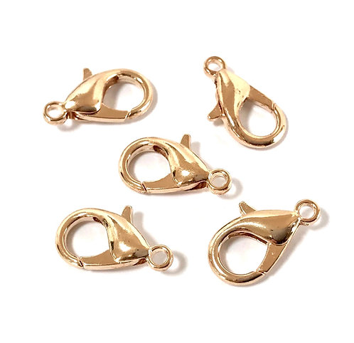 Light Gold Plated Lobster Clasps - 16 x 9mm