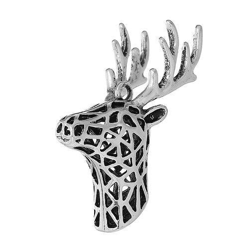 Hollow Deer Head - Silver