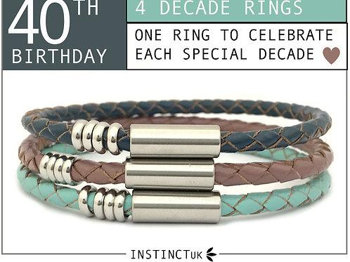 40th BIRTHDAY BRACELET FOR HER   Women's Birthday Gift