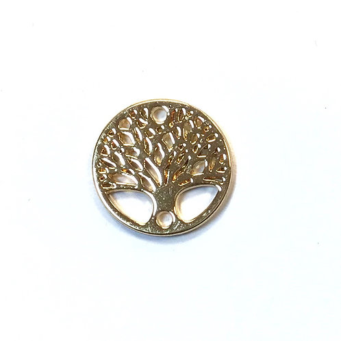 Tree of Life Connector, Light Gold
