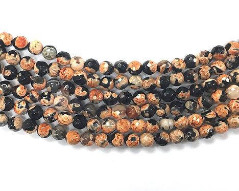 6mm Agate Beads - Orange