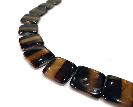 brown shell beads