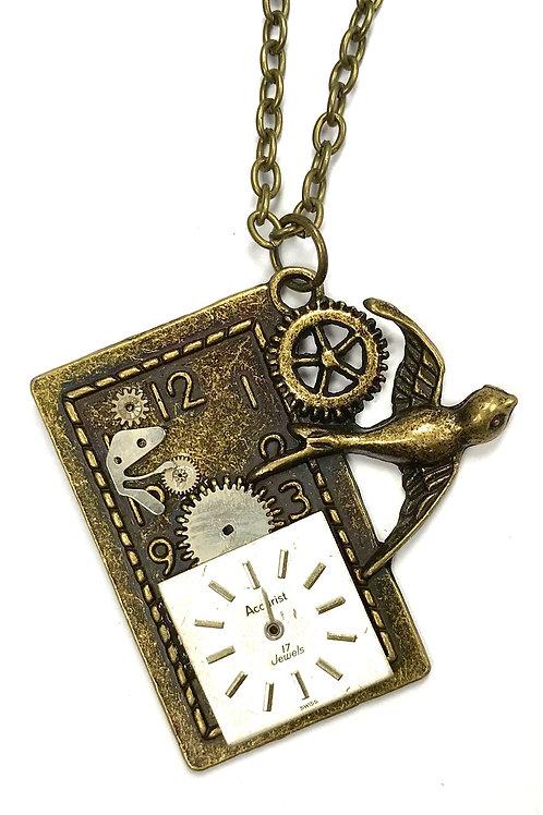 Bronze Swallow Clock