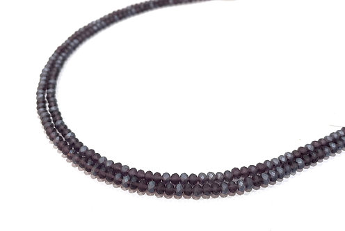 crystal glass rondelle purple beads 3mm