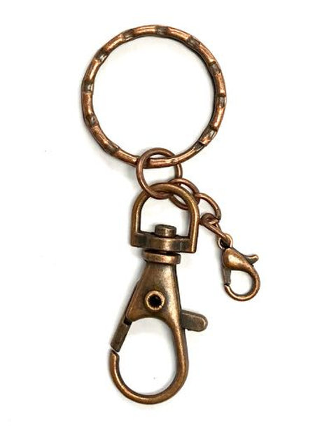 Keyring/Bag Clip - Copper