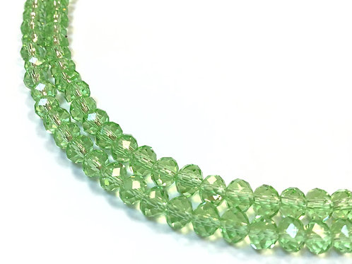 green crystal glass rondelle beads 6mm