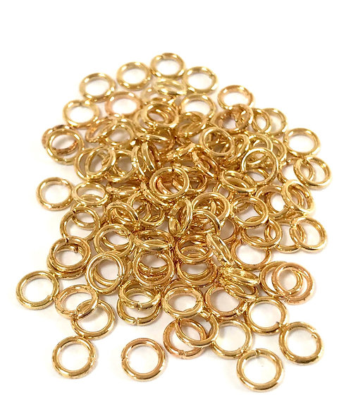 5mm Jump Rings - Light Gold Plated