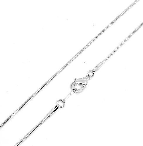 Snake Chain 61cm - Silver Plated