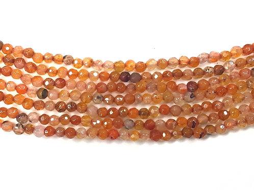 4mm Agate Beads - Orange