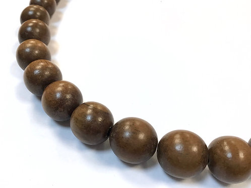 robles wood round beads