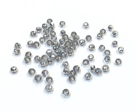 half electroplated silver glass beads