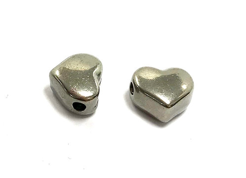 stainless steel heart bead