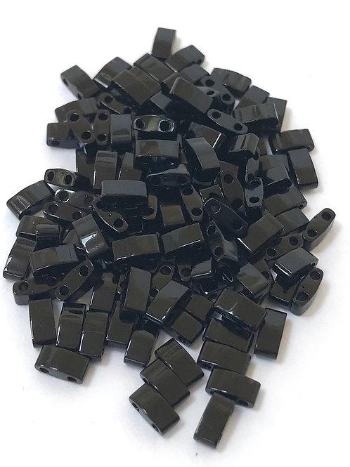 Miyuki Half Tila Beads - Black
