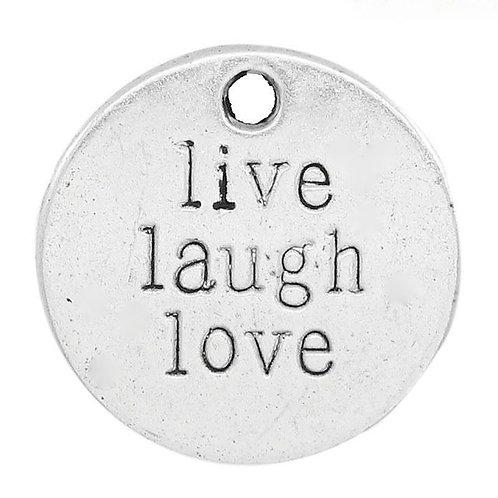 Live Laugh Love Token - Silver