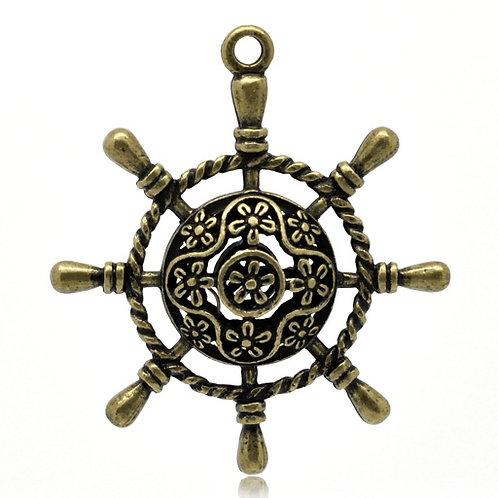 Ship Wheel - Bronze