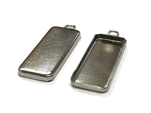 Stainless Steel Rectangle Frame Setting 25x10mm