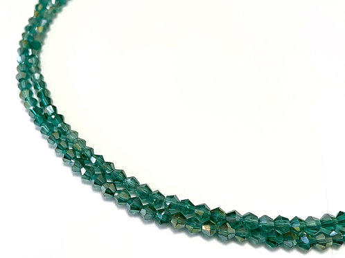 crystal glass green AB bicone beads 4mm