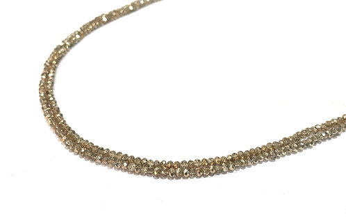crystal glass rondelle gold beads 2.5mm