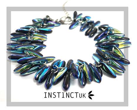 Electric Blue Spear Bracelet