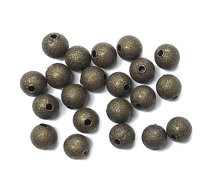 6mm Stardust Beads, Bronze Tone - Pack of 25