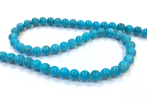 Glass Beads, Turquoise - 8mm