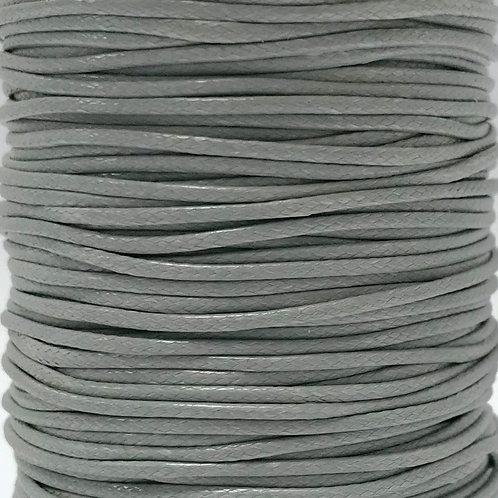 Wax Cotton Cord 1mm - Light Grey