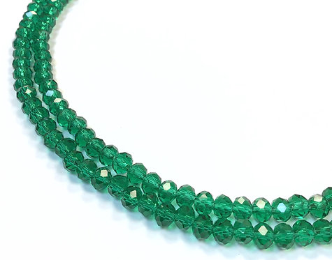 crystal glass green beads 6mm