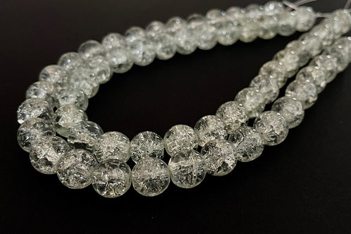 clear crackle glass beads 10mm