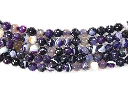 8mm Agate Beads - Purple