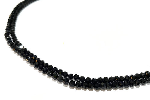 crystal glass black round beads 4mm